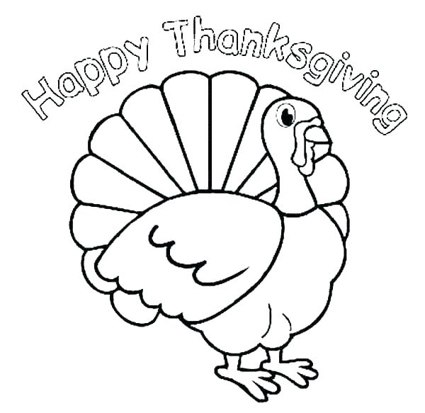 600x583 Thanksgiving Color Pages Color Turkey Turkey For Thanksgiving