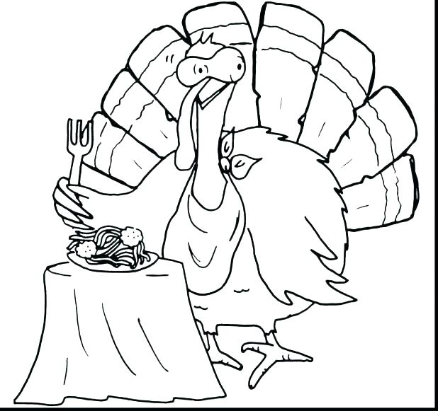 618x581 Turkey Coloring Pages Free Printable Christian Thanksgiving