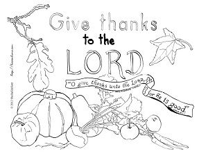 300x225 Bible Thanksgiving Coloring Pages Happy Easter Thanksgiving