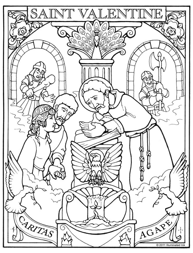 664x870 Christian Valentines Day Coloring Pages Printable Quotes