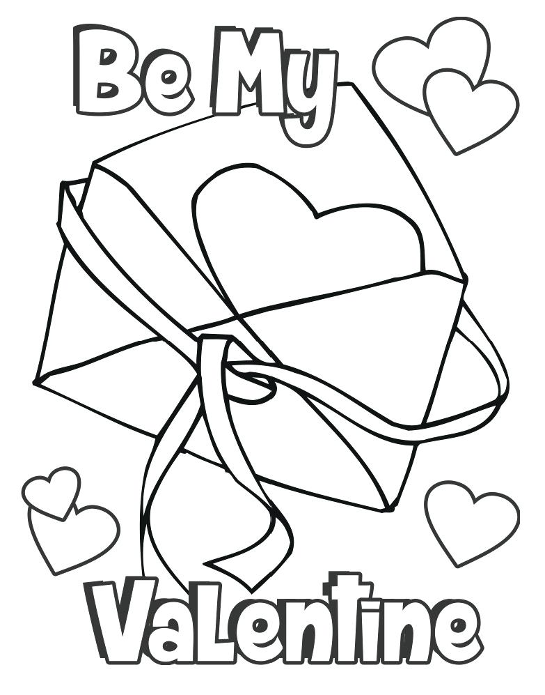 783x997 Valentine Coloring Page Card Valentine In An Envelope Coloring