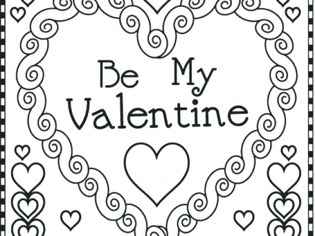 640x480 Valentine Coloring Pages Free Printable Coloring Valentines Cards