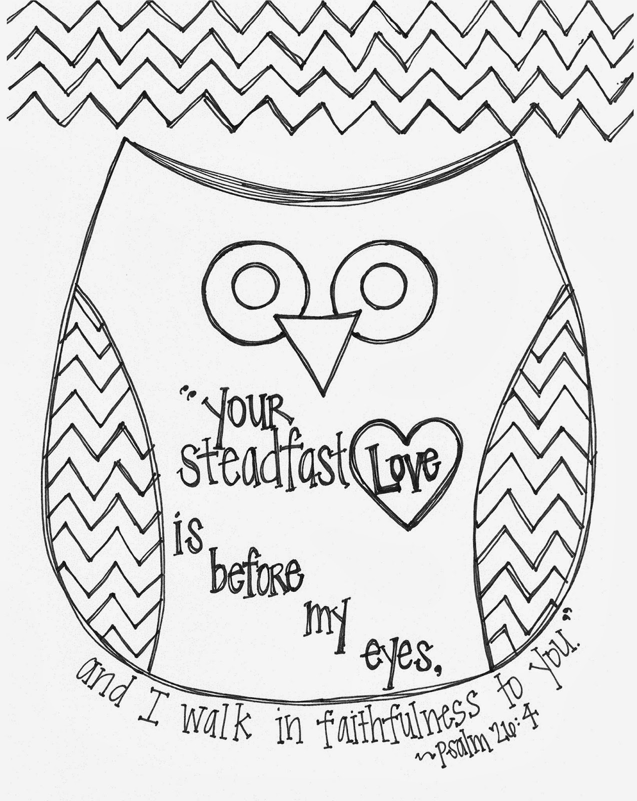 1273x1600 Free Valentine's Day Bible Verse Owl Coloring Page Religious Ed