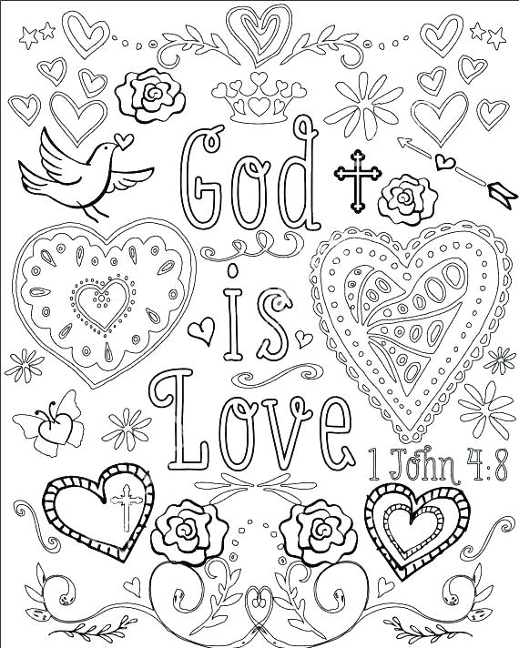 570x712 Religious Coloring Pages Christian Valentines Day Coloring Pages