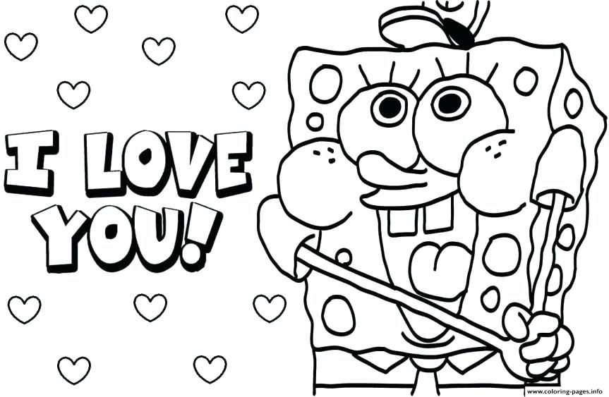 863x563 Spongebob Valentine Coloring Pages Christian Valentines Day