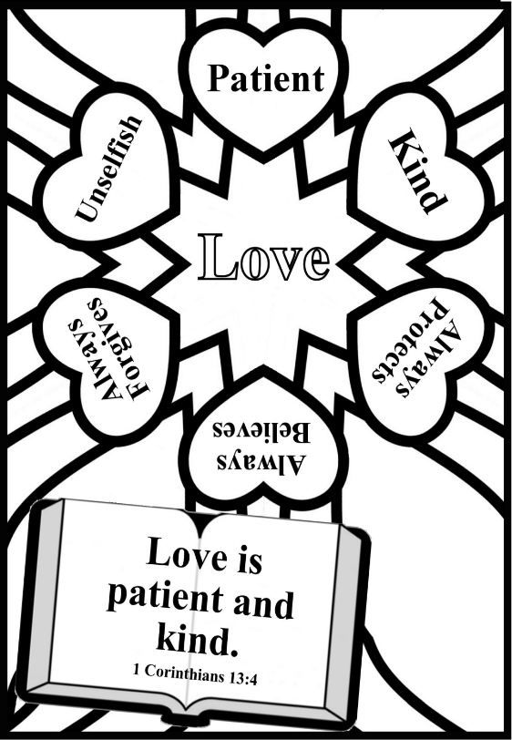 562x812 Coloring Page Valentines Day Church Kids Sunday