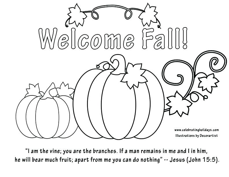 792x612 Coloring Pages Christian Welcome Fall Coloring Page With Bible