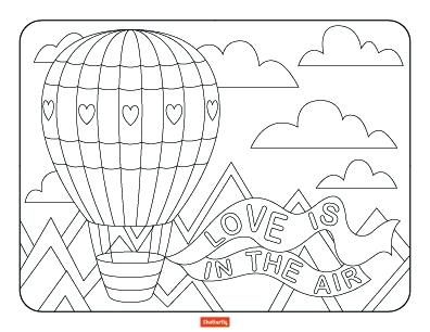 396x306 Valentines Day Coloring Page