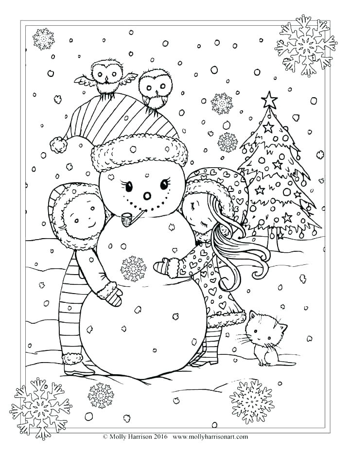Christmas Adult Coloring Pages Free at GetDrawings.com ...