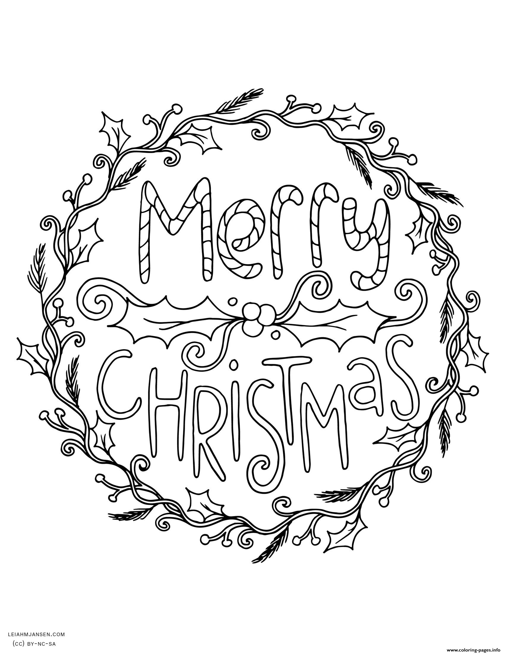 Christmas Adult Coloring Pages Free At Getdrawings Com