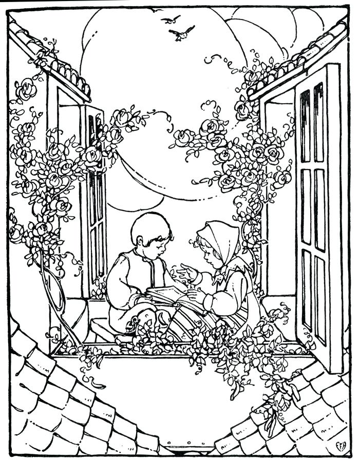 699x900 Vintage Christmas Coloring Pages Vintage Adult Coloring Pages Free