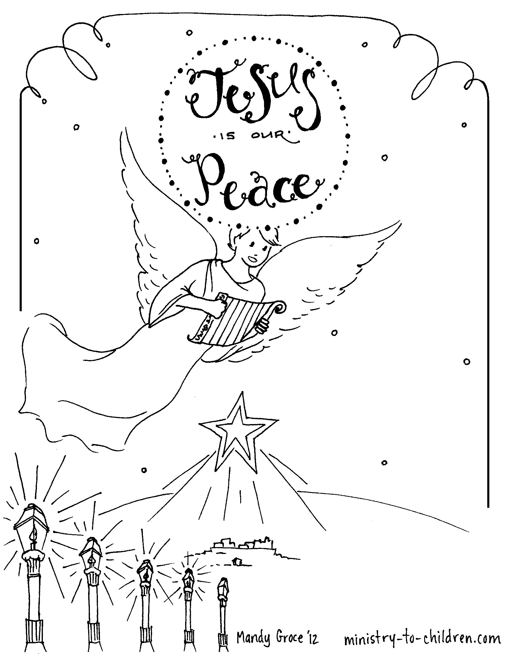 Christmas Advent Coloring Pages At Getdrawings Com Free For