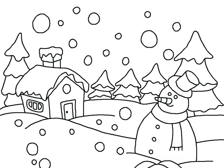 736x552 Free Winter Coloring Sheets Printable Winter Coloring Pages Free