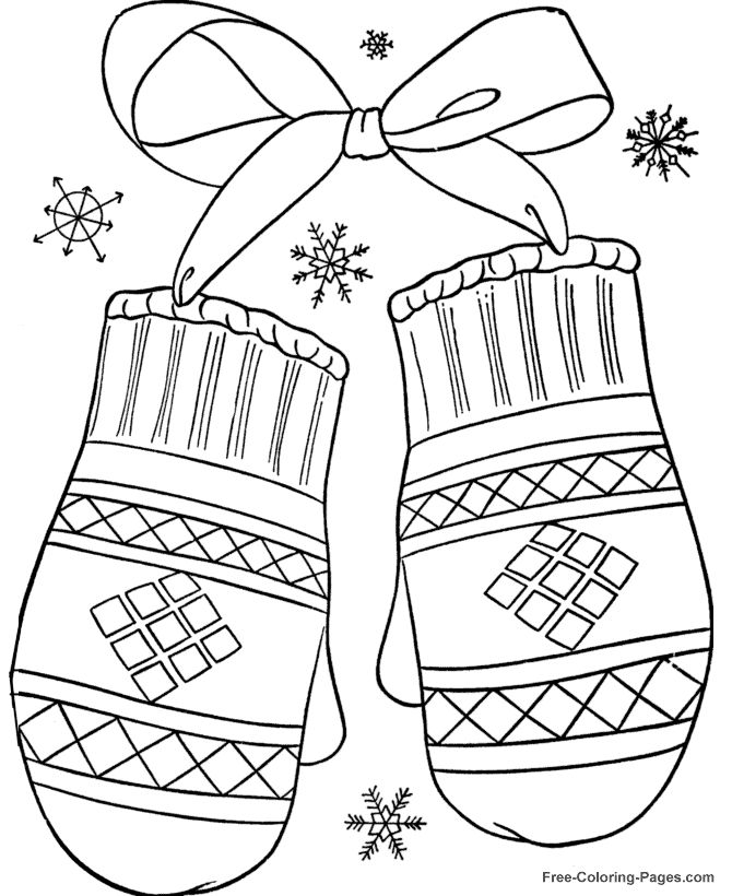 670x820 Mittens Coloring Pages For Christmas