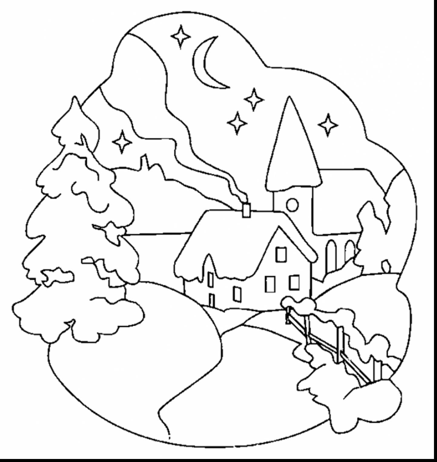 1443x1526 New Coloring Pages For Winter Wonderland Leri Co Scene Idea