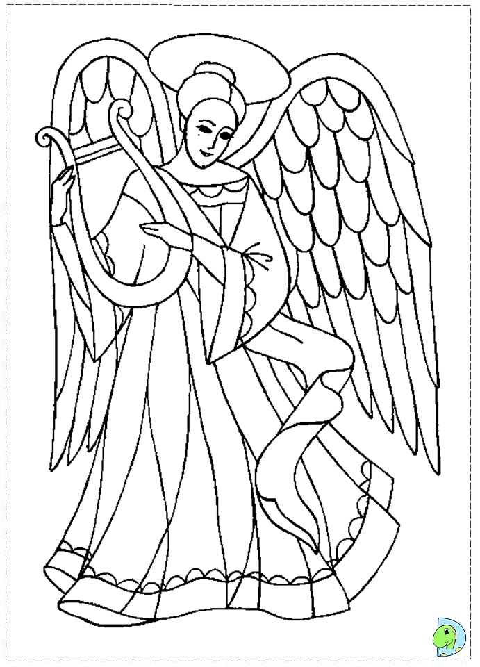 Christmas Angel Coloring Pages At Getdrawings Com Free For