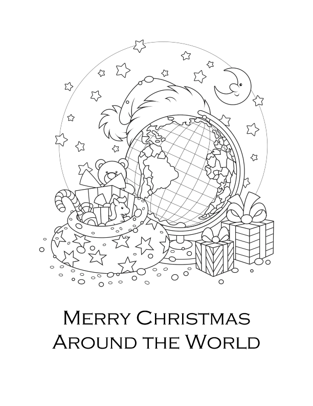 612x792 Christmas Around The World Coloring Page