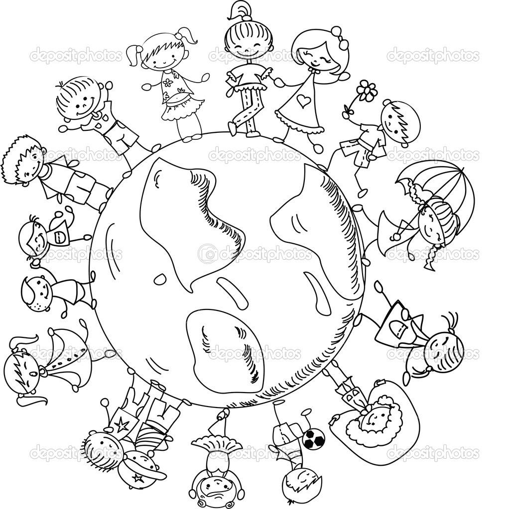 1022x1023 Around The World Coloring Pages Around The World Coloring Pages