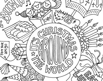 340x270 Holiday Coloring Etsy