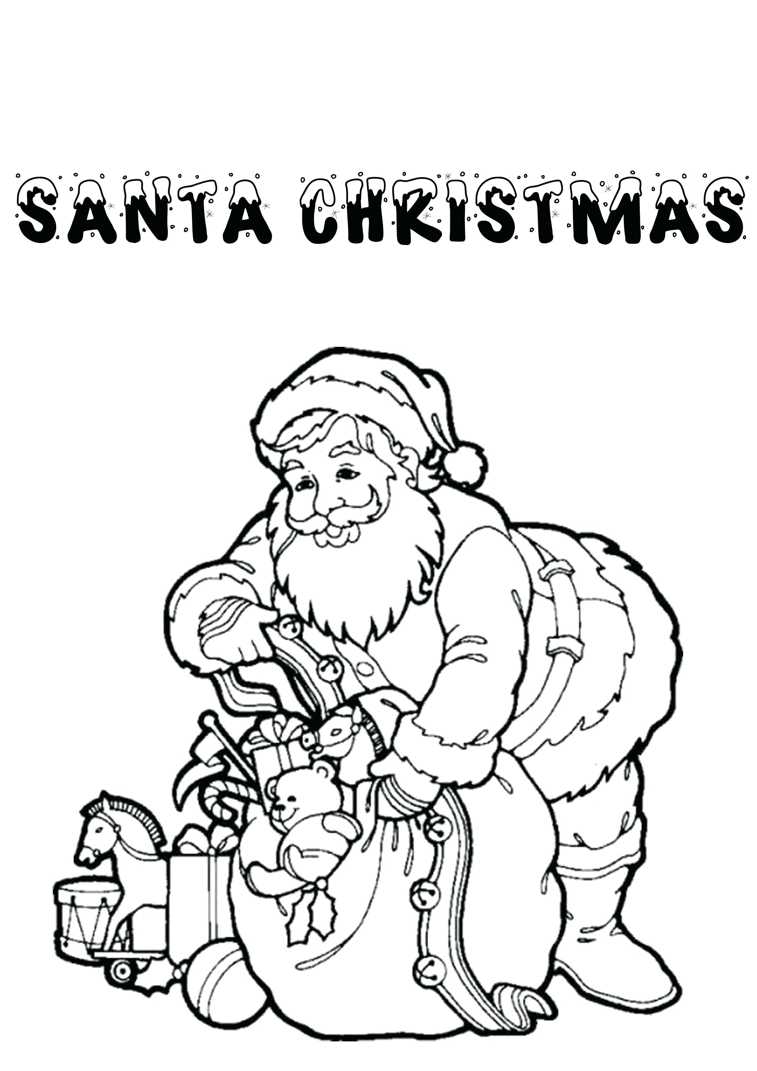 2480x3508 Inspiration Santa Christmas Around The World Coloring Pages