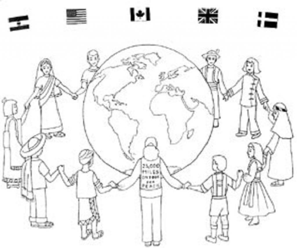 1024x856 Astonishing Children Around The World Coloring