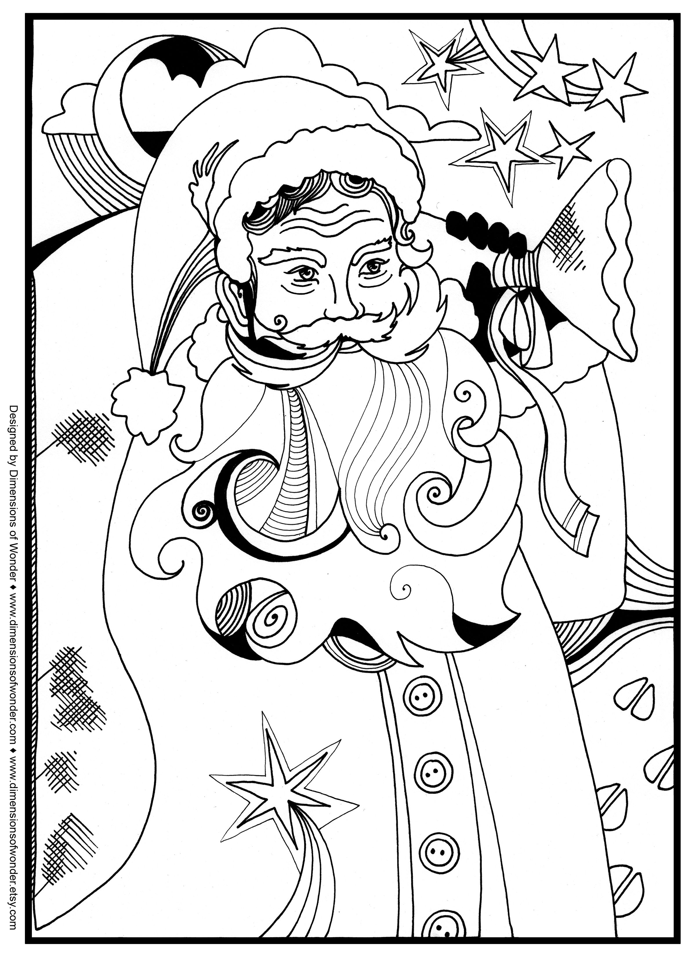 2400x3300 Santa Christmas Around The World Coloring Pages Kidsfreecoloring