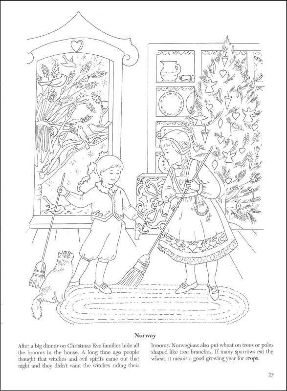 587x800 Vintage Christmas Coloring Pages Christmas Around The World