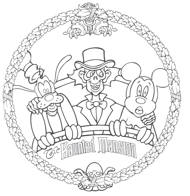 776x799 Christmas Around The World Coloring Pages Haunted Mansion Free