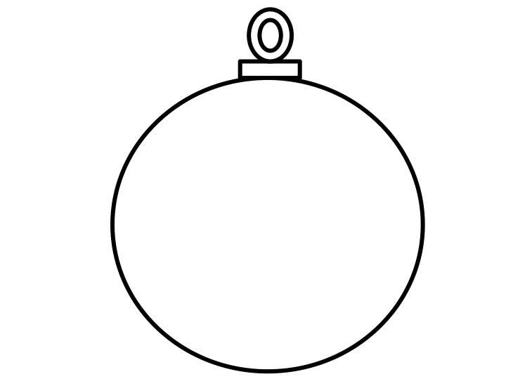 720x540 Christmas Baubles Templates To Colour