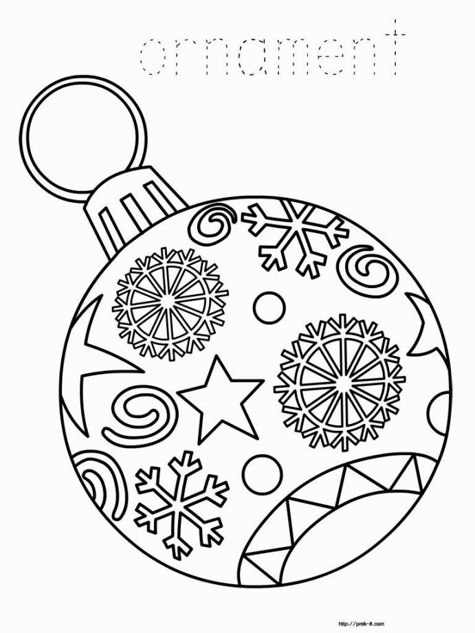 691x921 Christmas Ornament Coloring Coloring Pages