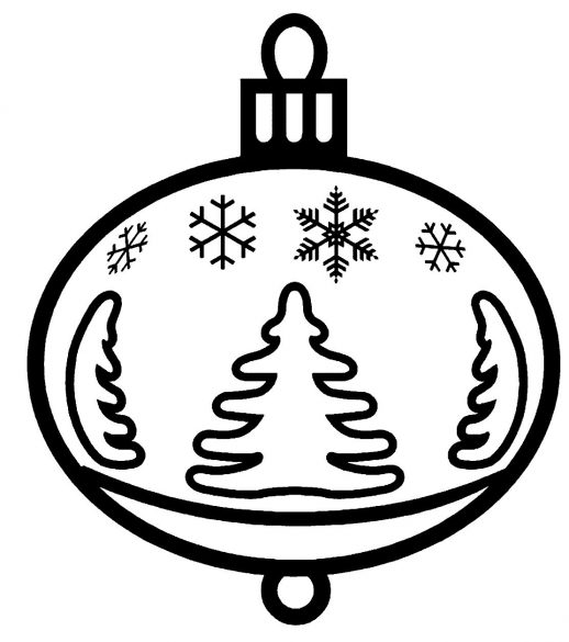 518x585 Pretty Glass Ball Ornament For Christmas Coloring Pages