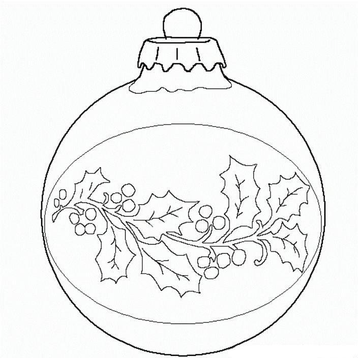 704x704 Christmas Ball Coloring Page Print Ball Christmas Ornament