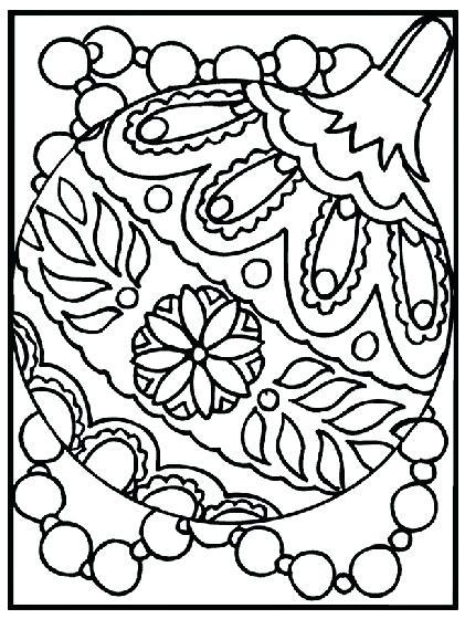 421x560 Christmas Ornament Coloring Sheet