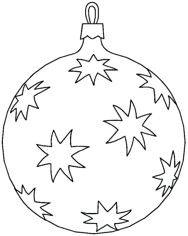 636x800 Christmas Ornament Coloring Pages Mandala Ornament Black And White