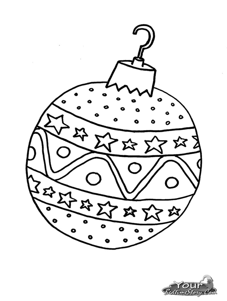 Christmas Ball Ornaments Coloring Pages at GetDrawings.com ...