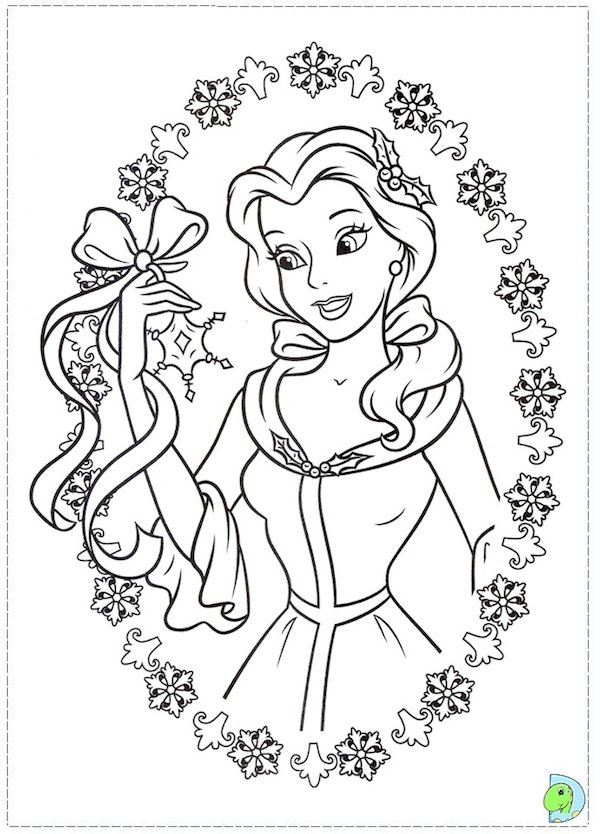 600x834 Free Printable Disney Princess Christmas Coloring Pages Coloring