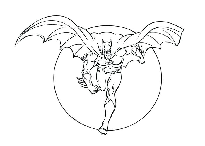 700x500 Batman Coloring Pages For Kids Printable