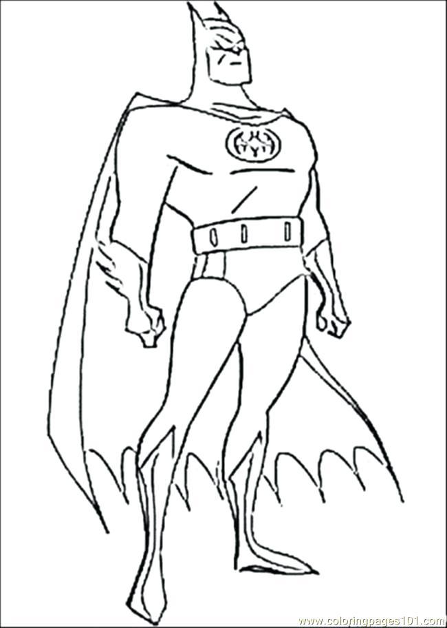 650x912 Batman Cartoon Pictures Color Picture Of Batman Coloring Page