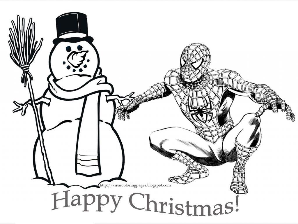 1024x768 Batman Christmas Coloring Pages