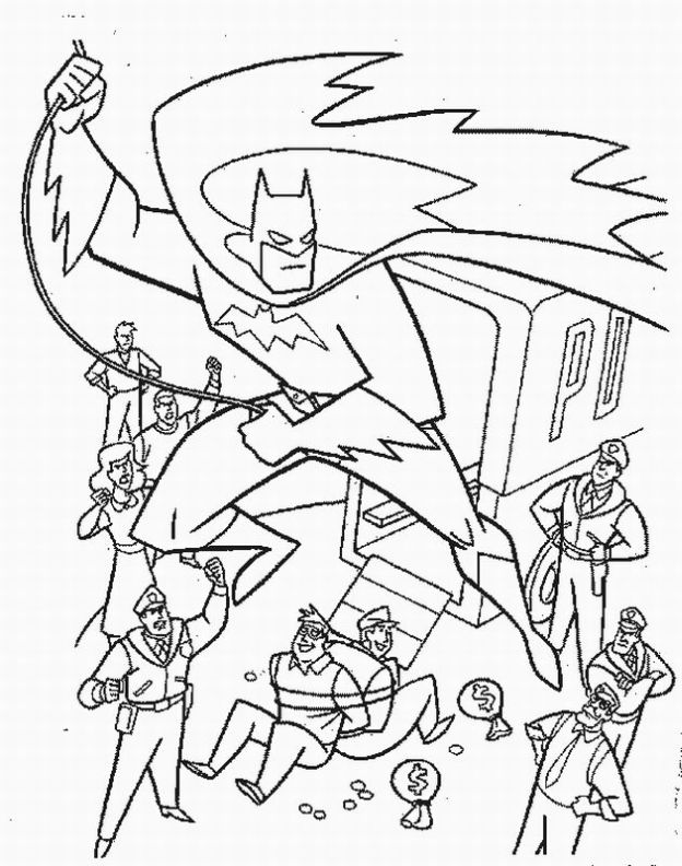624x792 Batman Christmas Coloring Pages For Kids
