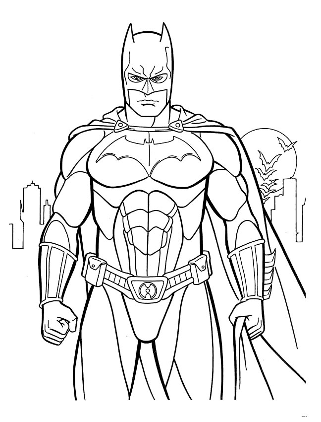 648x850 Batman Coloring Page