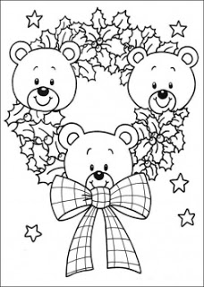 228x320 Cute Christmas Teddy Bear Coloring Pages And Pictures, Photos