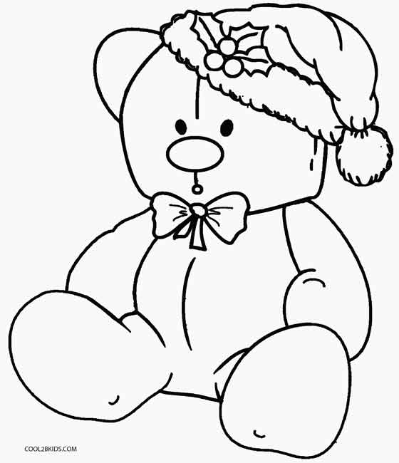 560x650 Printable Teddy Bear Coloring Pages For Kids