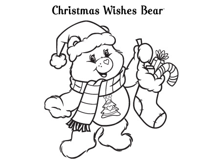 450x334 Christmas Bear Coloring Pages