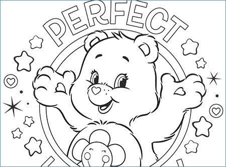 450x334 Teddy Bear Merry Christmas Coloring Pages