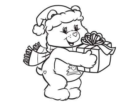 450x334 Christmas Bear Coloring Pages Giving Is Receiving Care Bears