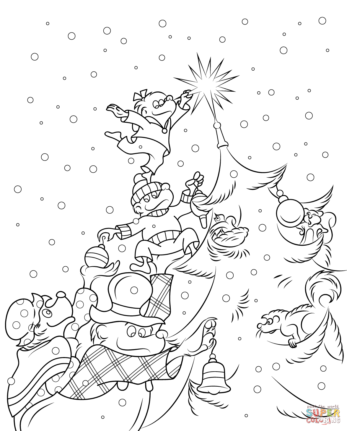 1175x1458 The Berenstain Bears Christmas Tree Coloring Page Free Printable
