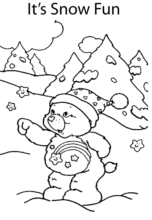 533x772 Christmas Care Bear Coloring Pages