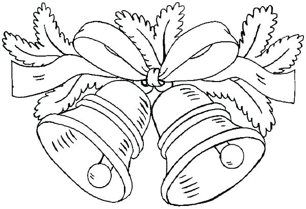 600x410 Christmas Bells Coloring Pages With Bell Coloring Pages Bells