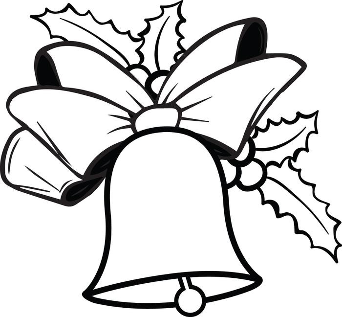 700x648 Christmas Bells Coloring Pages